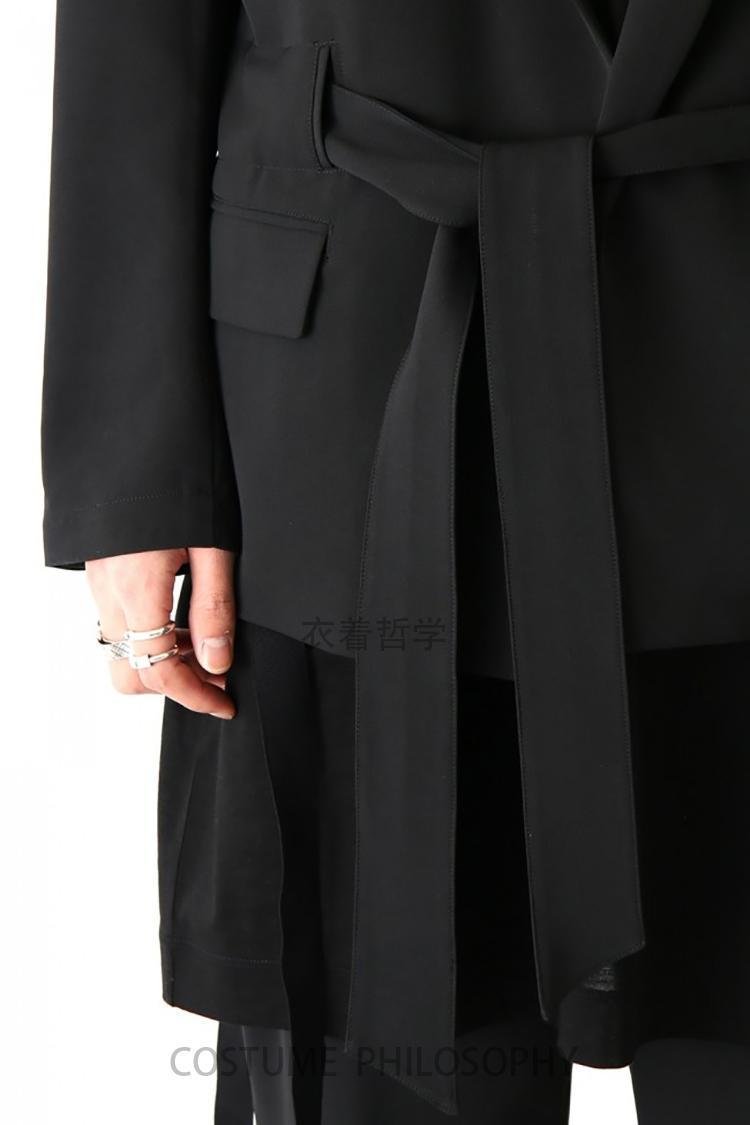 abbigliamento GD hair stylist di personalità chalaza semplici costumi Singer sciolto cappotto vestito S ~ 5XL personalizzabile dei nuovi uomini di grande codice