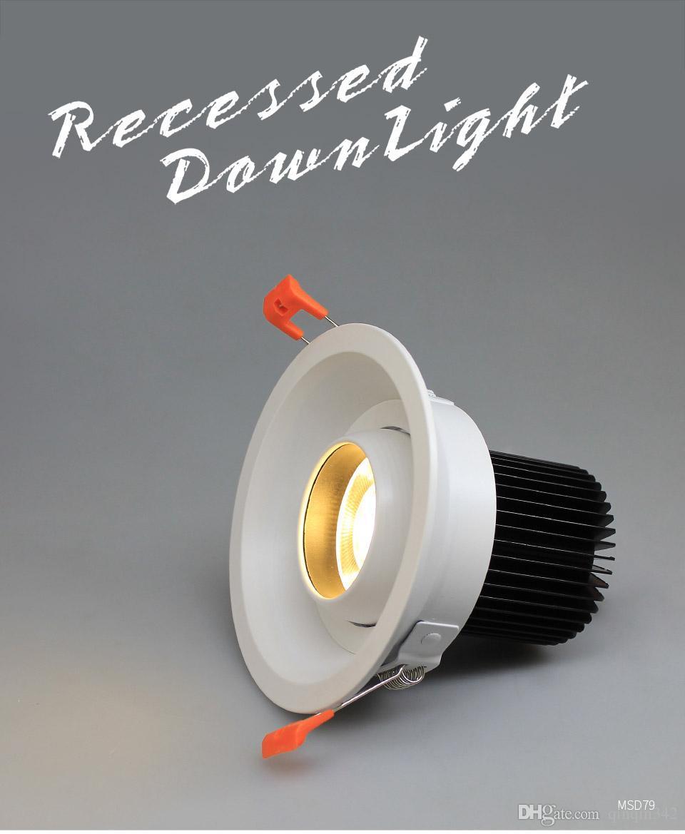 DHL راحة LED النازل زاوية قابل للتعديل المدمج في الصمام بقعة ضوء Encastrable AC90-260V الأبيض 7W عن الإضاءة في الأماكن المغلقة