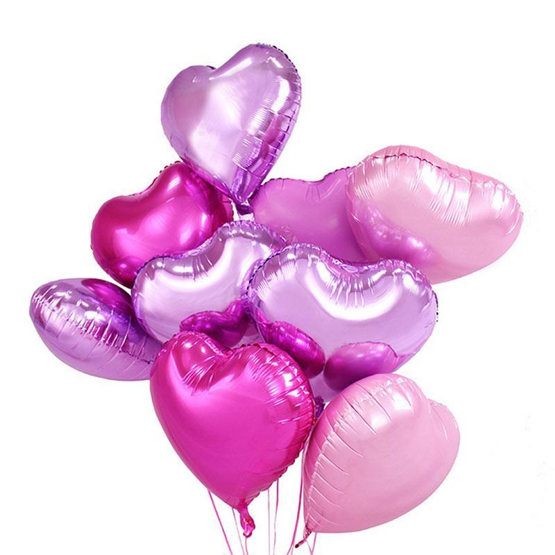 18 بوصة بالونات القلب للأطفال الهليوم بالون الهواء الأطفال سعداء عيد ميلاد زفاف عيد الحب حفلة عيد الميلاد زينة ديي بالون