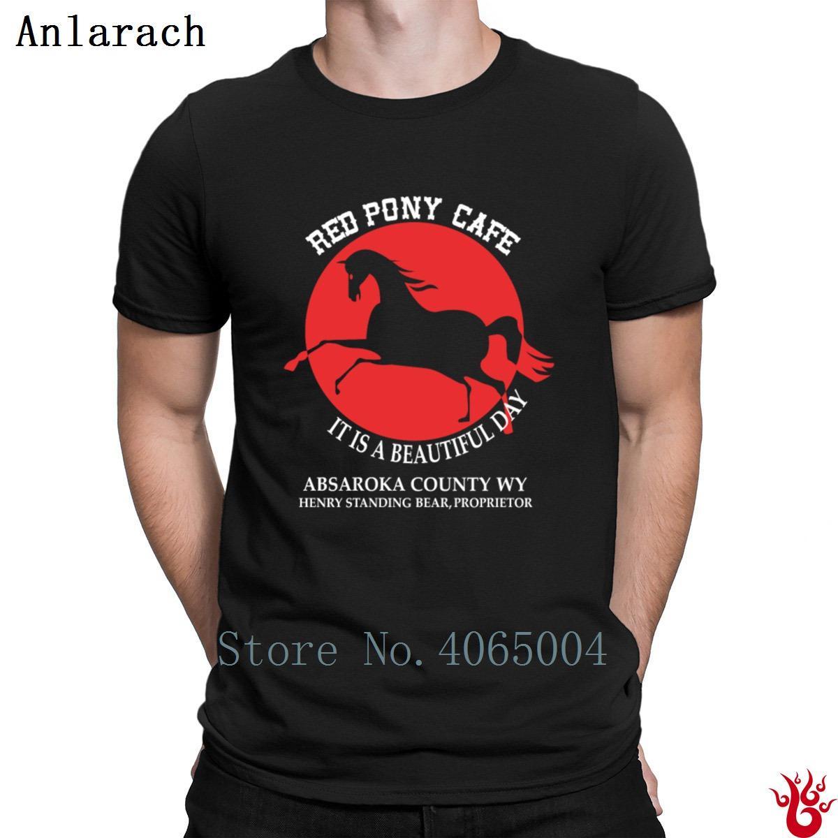 Red Pony Cafe E 'una bella giornata shirt magliette della novità Hiphop Top T For Men 2018 fitness divertente casual formato S-3XL del modello