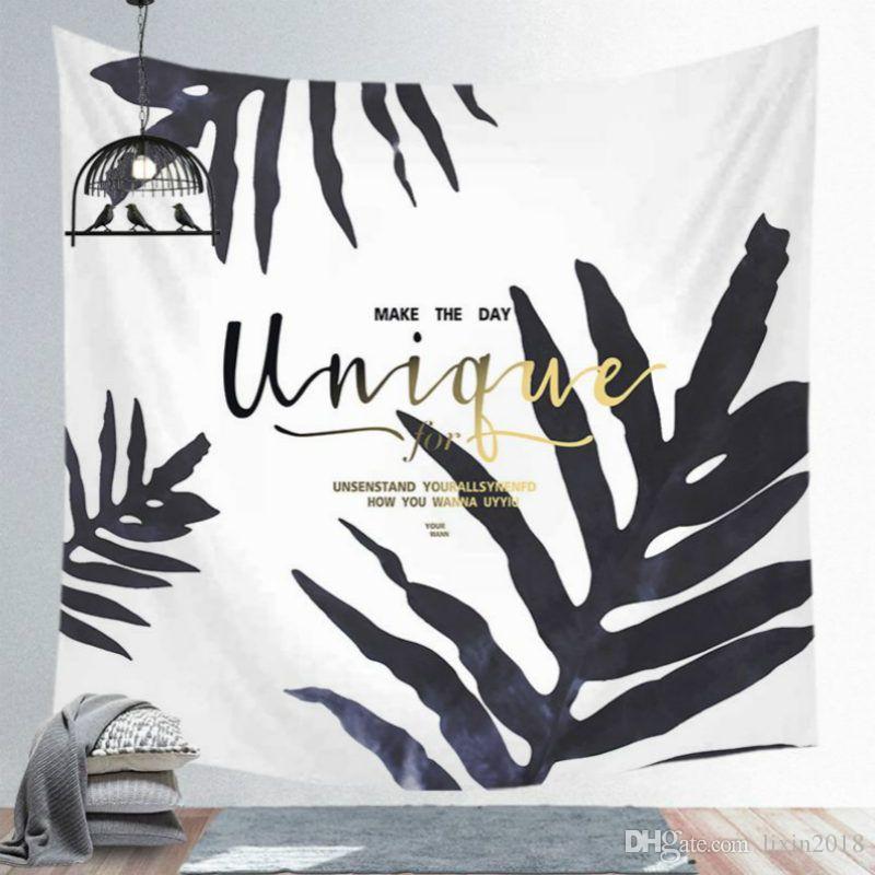 새로운 여름 녹색 태피스트리를 들어 거실 침실 침대 덮개 열대 식물 잎 인쇄 벽 태피스트리 직물 150x150cm 매달려