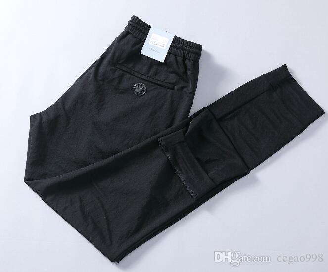 (Groß- / Kleinhandel) gerade Hosen der neuen Gummibandmänner des Frühlinges und des Sommers Dünne beiläufige Hosen der großen Männer