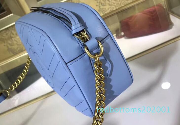 5A Üst Kalite 447.632 24cm Marmont küçük matelass omuz çantası, Toz torbası Seri Numarası Box, Ücretsiz Kargo R01 ile gel