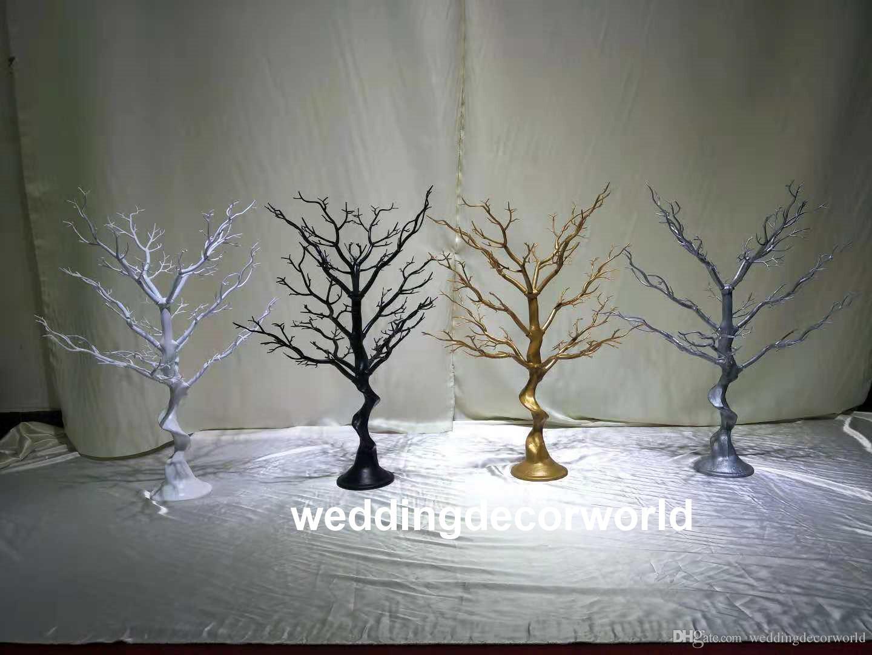 Hiçbir hangging kristal) temizle kristal olmadan güzel uzun boylu çiçek standları düğün masa centerpieces dekorasyon decor0694