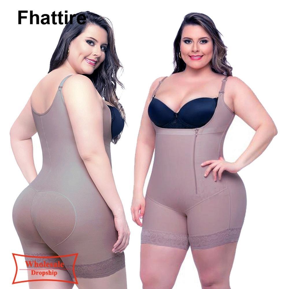 Kadınlar Butt Bodysui için Artı Boyut Shapewear Firma Kontrol Bel Trainer Vücut Şekillendirici Tüm Vücut Karın Shaper Dantel Zayıflama İç Giyim