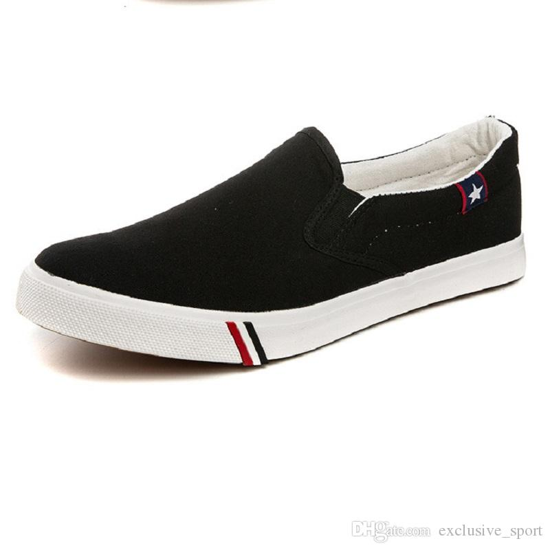 Mens Lazy Casual Shoes Black White Blue