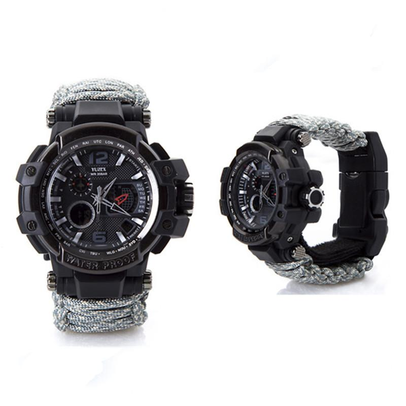 New Outdoor Survival Watch Bracelet Multi-functional Waterproof 50M Watch For Men Women Camping Hiking Military Tactical Camping Tools (10)