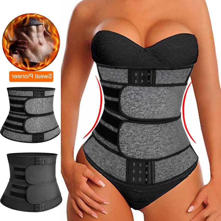 Faja amincissants néoprène Sauna taille Entraîneur Corset Sweat ceinture pour les femmes de perte de poids de compression Trimmer entraînement de remise en forme