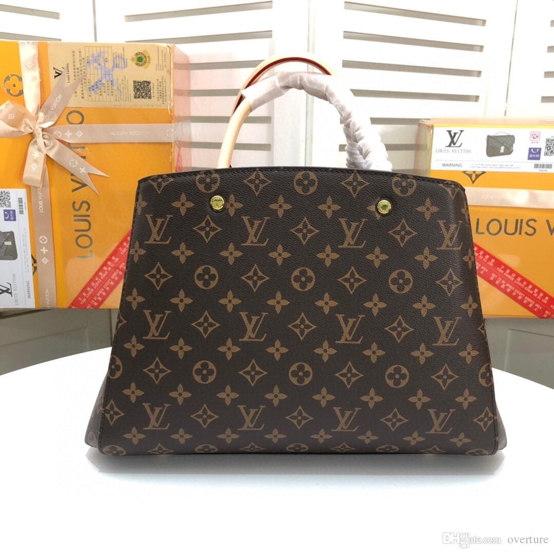 Tasarımcı handabgs Hamz lüks çanta çanta hakiki deri litchi desen 25cm 30cm 35cm tasarımcı çantaları gerçek deri çanta egr