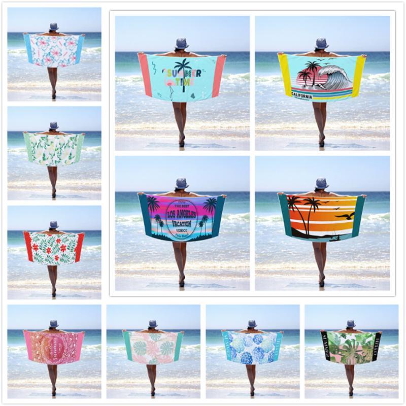 40 Designs Serviette de plage pour adultes Sport / Gym / Serviette de bain Salle de bains Serviettes Microfibre Voyage Sable gratuit Grande Robe Sport Pour Sauna Mat