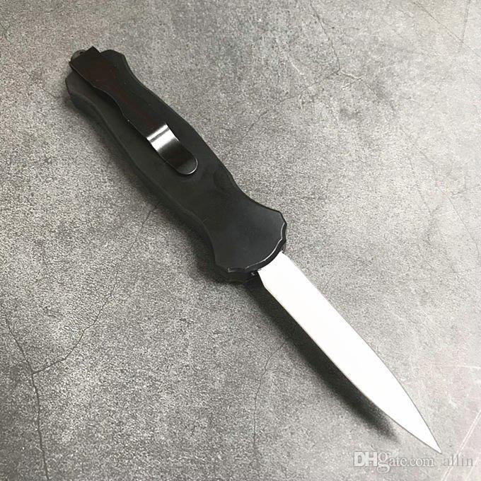 Новая бабочка 3300 Авто Тактического нож D2 Double Edge Копье Точка с титановым покрытием Лезвия EDC карманных ножей с тактической нейлоновой сумкой