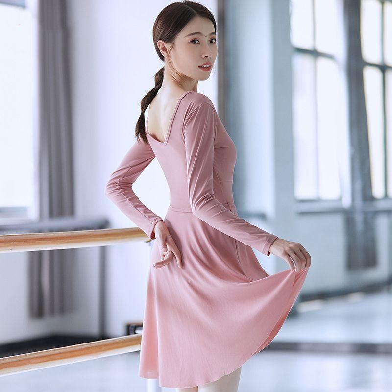 무대 착용 발레 스커트 댄스 메쉬 레오타드 체조 드레스 Tutu 발레리나 무릎 길이 댄스웨어 여성