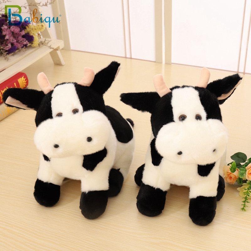 Babiqu 1PC 30CM سوبر لطيف حليب البقر القطيفة لعبة جميلة زودياك البقر الماشية خجولة استرضاء دمية الإبداعية عيد ميلاد هدايا عيد الميلاد