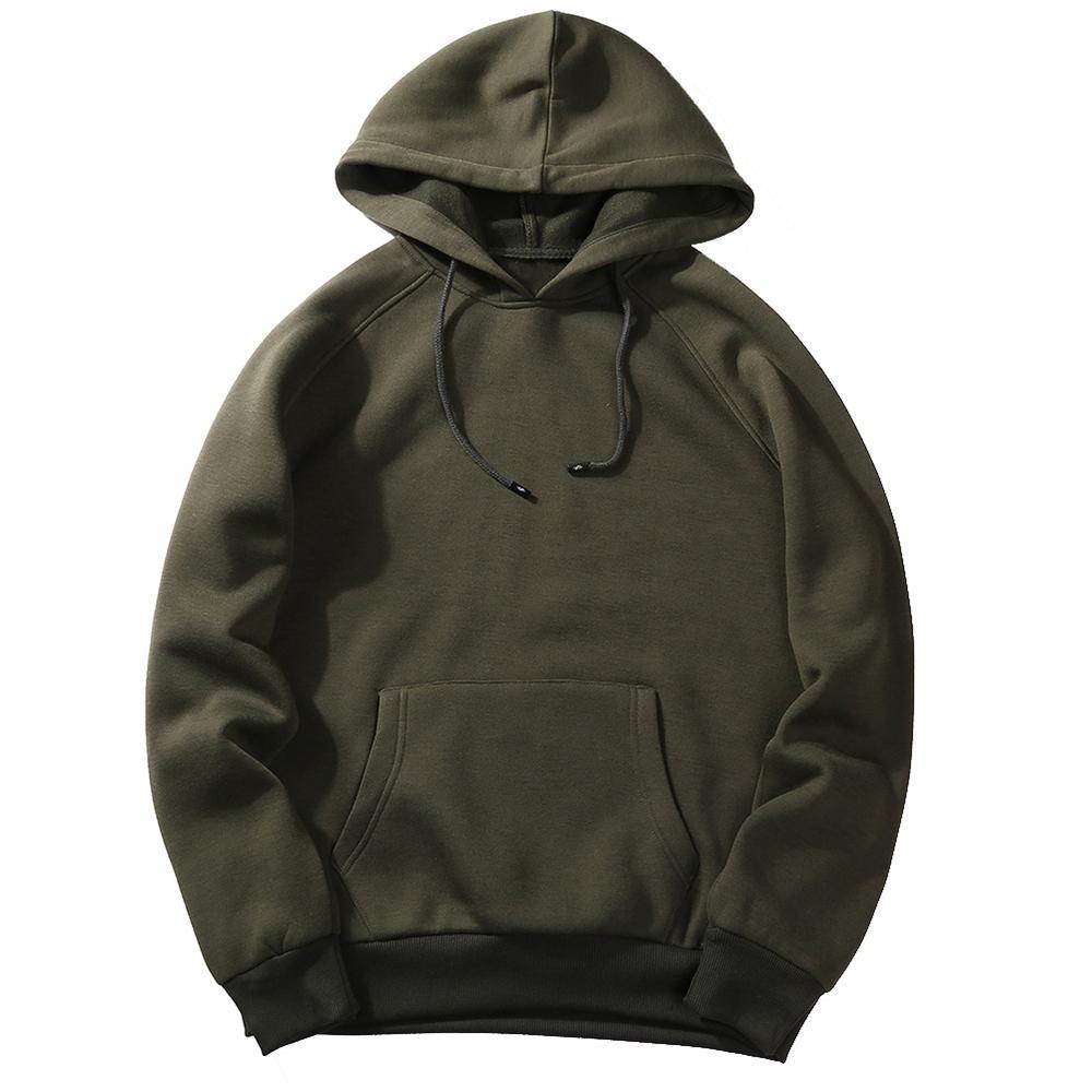 NIBESSER 2018 Casual Autumn Mens Hooded Hoodies Fashion Sweatshirt Loose Tracksuit Tops Men  Hoodies Solid Hoody Sweatshirt