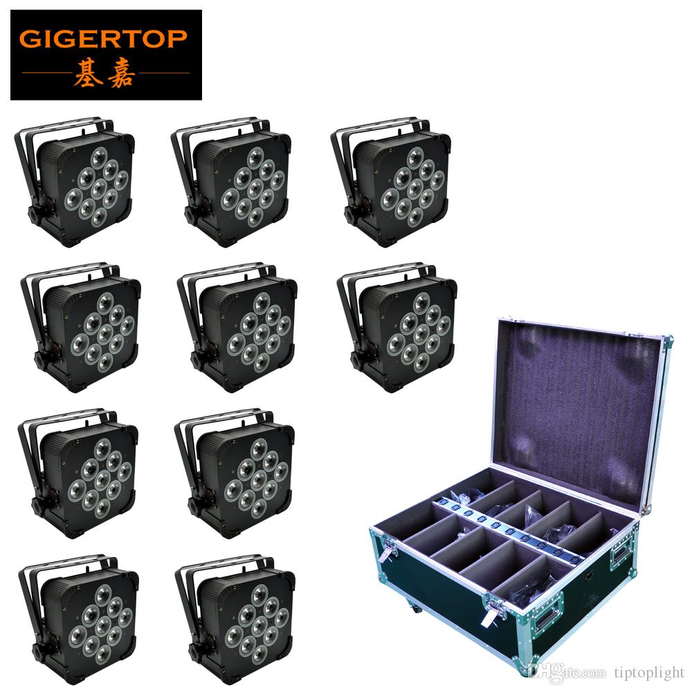 TIPTOP 10in1 Caso pile della 9X18W 6 colori luce par RGBWA UV LED Wireless DMX 512 DJ a distanza