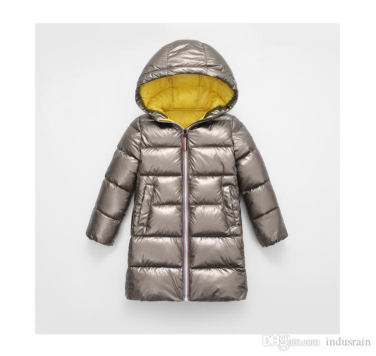 Nuovi Winter Fashion ragazze dei capretti rivestimento dei bambini di abbigliamento Giacca caldo Big Vergine lungo cappotto caldo per Cold Winter Cotton Parka Kids Clothes
