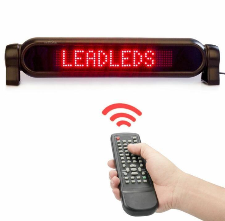 12V rojo 7x50 de control programables rodantes Led signos y pantallas de información a distancia, apto para coches conveniente y práctico