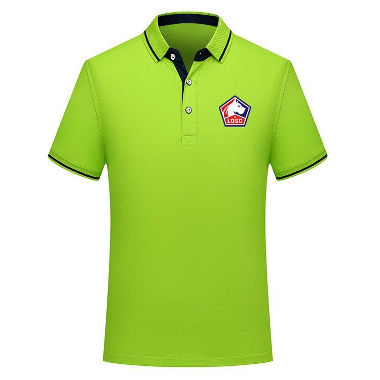 2019 2020 Ligue 1 Lille Fußball-Polo-Hemd Männer T-Shirt Fußballhemden 2019 Lille Polohemden Jersey pepe Herren Polos Hemd