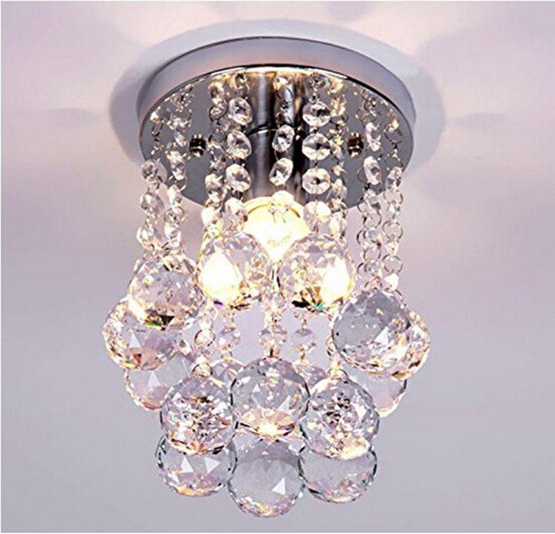 lampada lampadario di cristallo sfera di cristallo LED lucentezza moderna E27 / 26 lampadari illuminazione della lampada Fixture pendente soffitto di cristallo di illuminazione