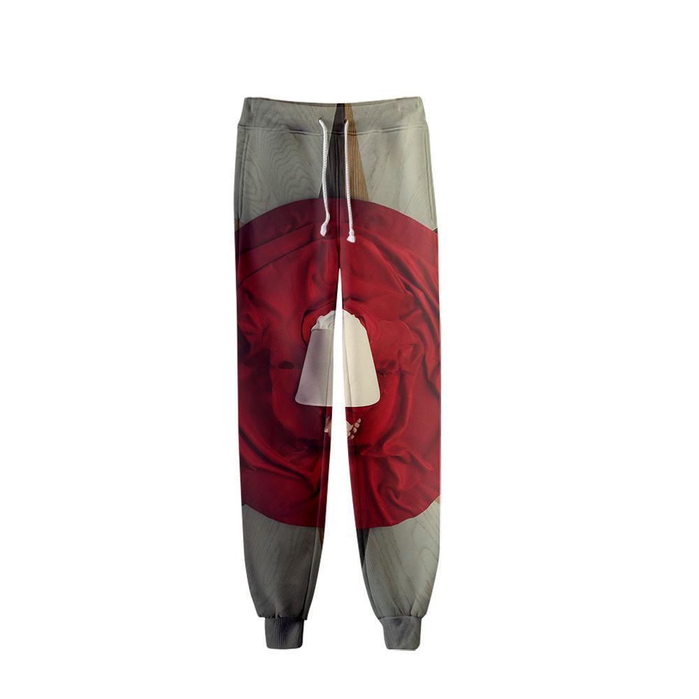 The Handmaid's Tale Casual 3d Pants Sportting Trousers المتناثرة الهيب هوب هايت نوعية السراويل 2019 الكورية