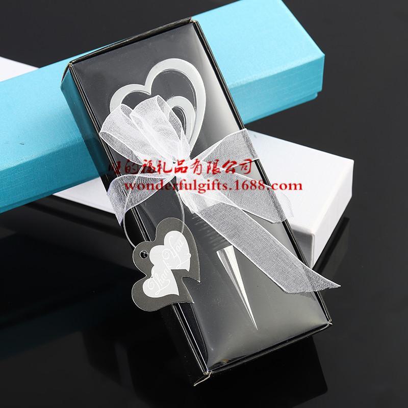 wedding favor gifts and giveaways for guest--love theme zinc alloy double heart bottle stopper party souvenir 30pcs/lot