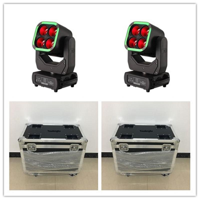 4pcs wth roadcase Pro Stage DJ Disco Beam Wash 2-in-1 Zoom Hybrid movingheads 4*60W RGBW 4-IN-1matrix LED Moving Head zoom Light