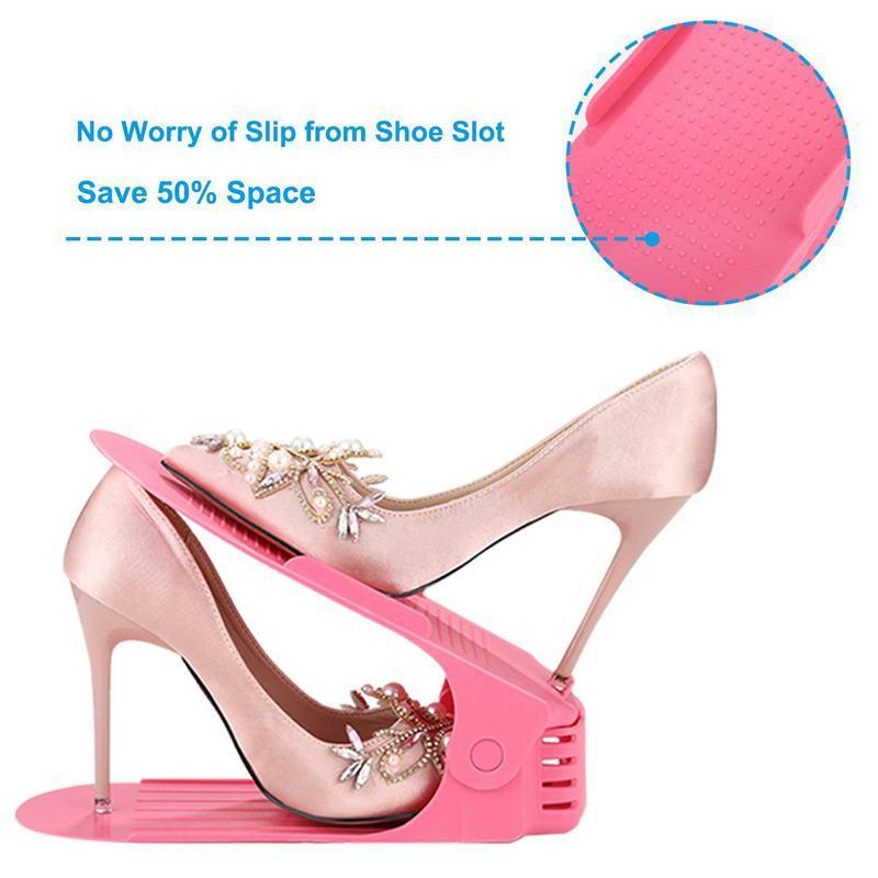 Para apilar los zapatos organizador ahorro de espacio zapatos rack koobea (8 zapato rack)