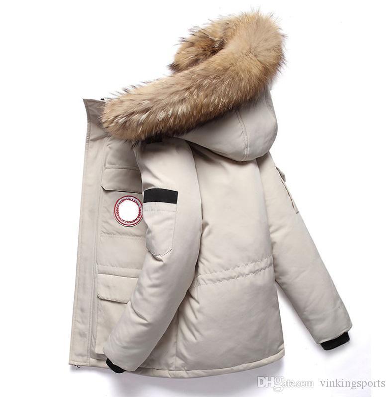 Mode pour hommes Designer Parka Down Jacket Veste canadienne vers le bas Nouveau vent Manteau version Designer épais Veste d'hiver à capuchon Vêtement chaud