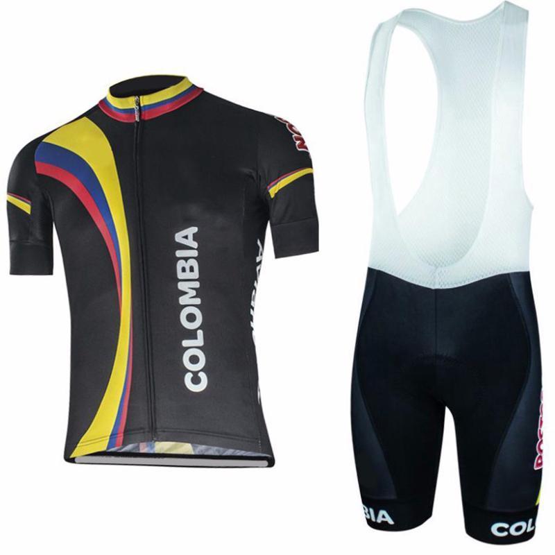 Yeni KOLOMBİYA Kısa Kollu Bisiklet Giyim MTB Bisiklet Giyim Maillot Ropa Ciclista Bisiklet Spor Ciclismo Bisiklet Jersey Pro