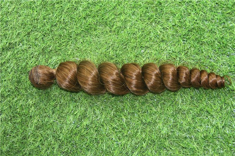 Bleach Blonde Renk Hint 1pcs / 100g Gevşek Dalga Paketler Remy 6a Çift Atkı Saç Dokuma Paketler% 100 İnsan Saç Uzatma