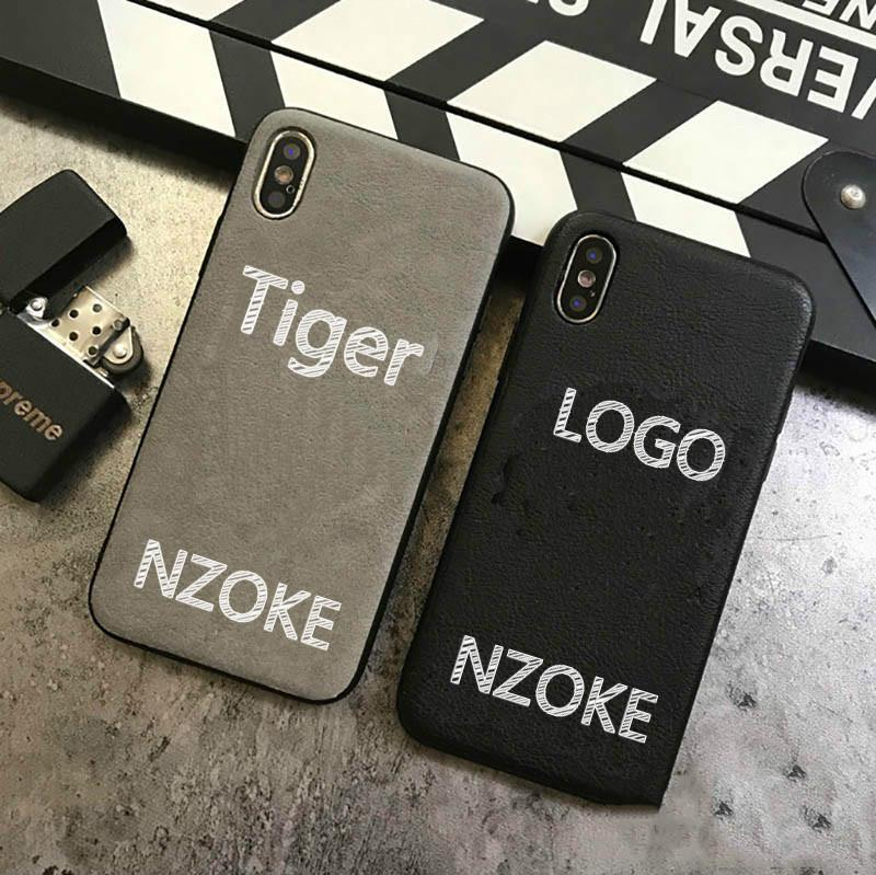 Luxury Leather Phone Case for IphoneXSMAX XR XS/X 7Plus/8Plus 7/8 Fashion Tiger Head Stamping Designer Protective Back Cover-2