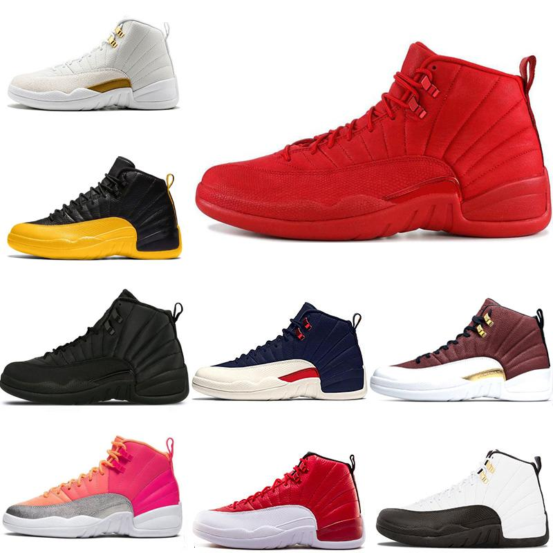 Nouveaux 12s 12 Chaussures de basket-ball Hommes Jeu Royal Hot Université punch Or Gym Red WNTR Michigan sneaker sport blanc noir