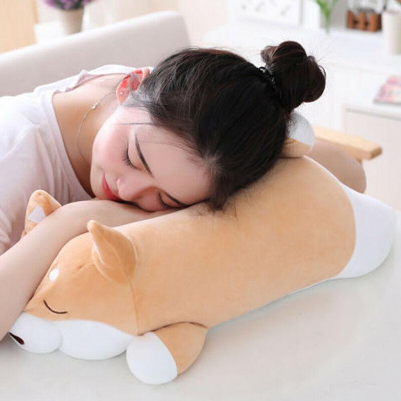 가와이이 동물 만화 베개 귀여운 지방 시바 개 봉제 장난감 인형 부드러운 사랑스러운 선물 키즈 아기 어린이