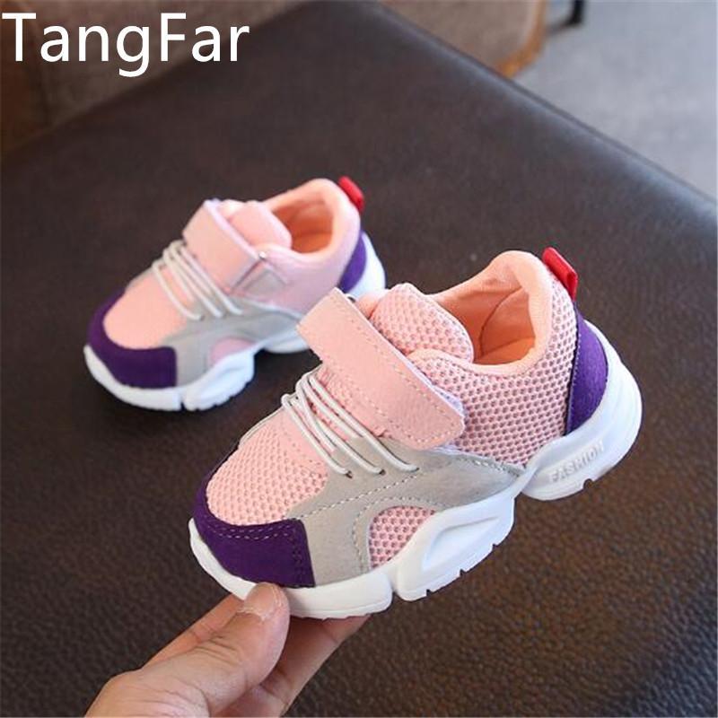 Kid zapatos corrientes de las zapatillas de deporte de verano Niños Deporte Tenis Infantil Niño Malla Calzado tamaño fresco chica Chaussure Enfant