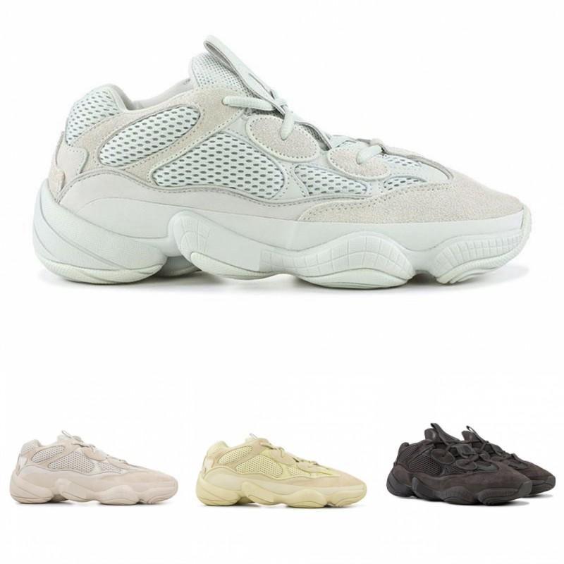 2019 Kanye West Salt 500 Running Shoes Mens Designer Shoes Super Moon Yellow Blush Desert Rat WomessYEzZYYEzZYs v2 350boost