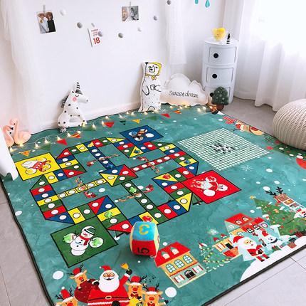 Super Kid Fun Extra Large Weihnachten Fliegen Schach Teppich-Kind-Karikatur Rätsel Brett Kinder Krabbeln Mat
