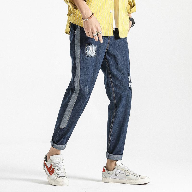 8XL Ripped Mens Black Jeans Pants Denim Japanese Streetwear Man Jeans Designer Brand Male Trousers Casual Pants Joggers for Men
