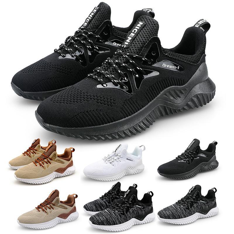 top hommes de plate-forme des femmes chaussures de course marron triple filet respirant confortable formateurs gris blanc noir chaussures sport 39-46