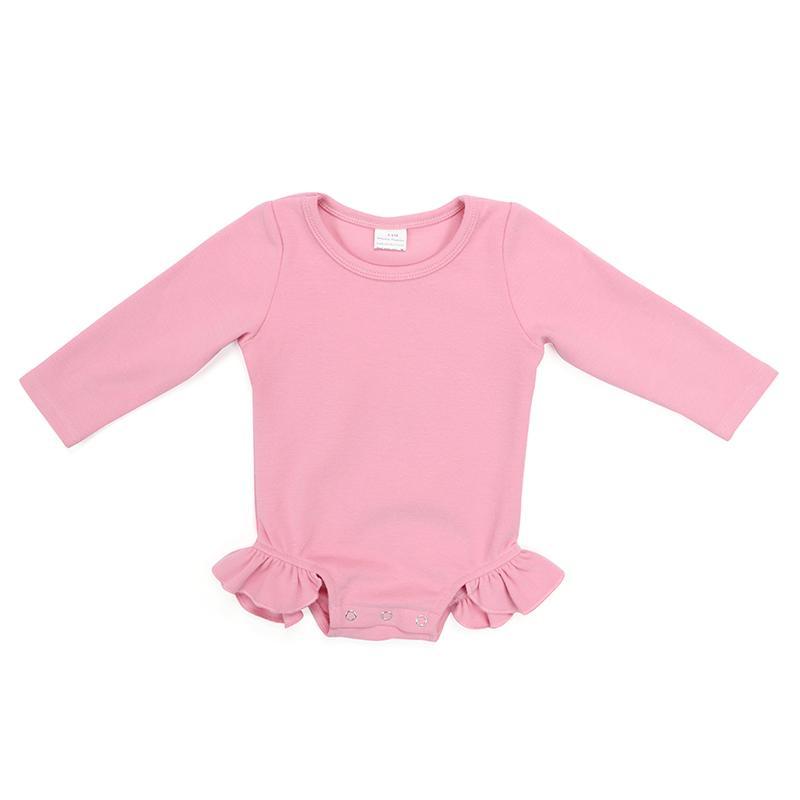 Kaiya Winkel Boutique Baby Body Bodysuit festen Baumwollkleinkind-Baby-neue Ankunfts-O-Ansatz lange Hülsen-Covered-Knopf-Overall