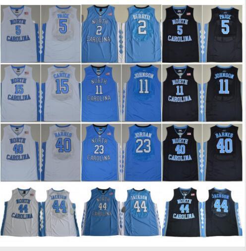 NCAA North Carolina Tar Heels Michael College 5 ناصر ليتل كارتر 32 Luke Maye Barnes Vince 2019 UNC blue Black White Jersey