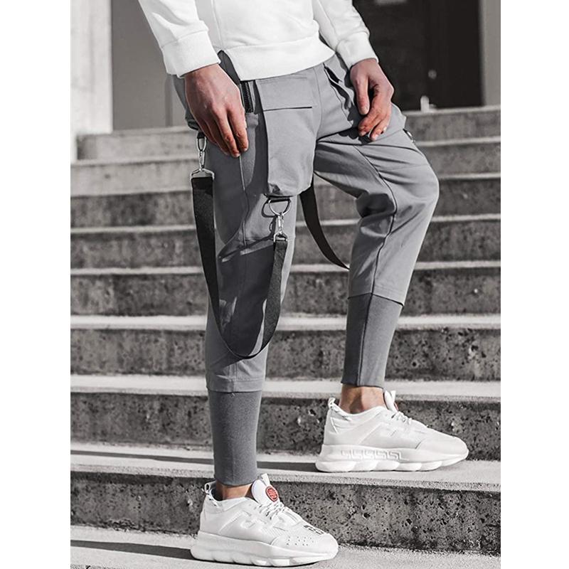 2020 Men Fashion New Multi-Pocket Patchwork Pants Casual Sweatpants Men High Street Hip Hop Slim Fitness Pants Long Trousers 3XL