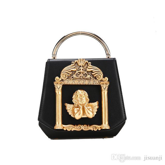 2019 High-end Custom Dinner Bag Cute Angel Carved Hand Bag Fashion Lady Fashion Shoulder Diagonal Bag