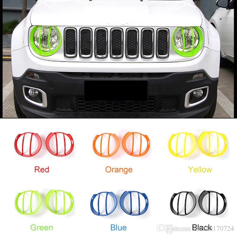 ABS Car Front Head Lamp Cover Decoration Fram For Jeep Renegade 2016 2017 2018 Exterior Accessories