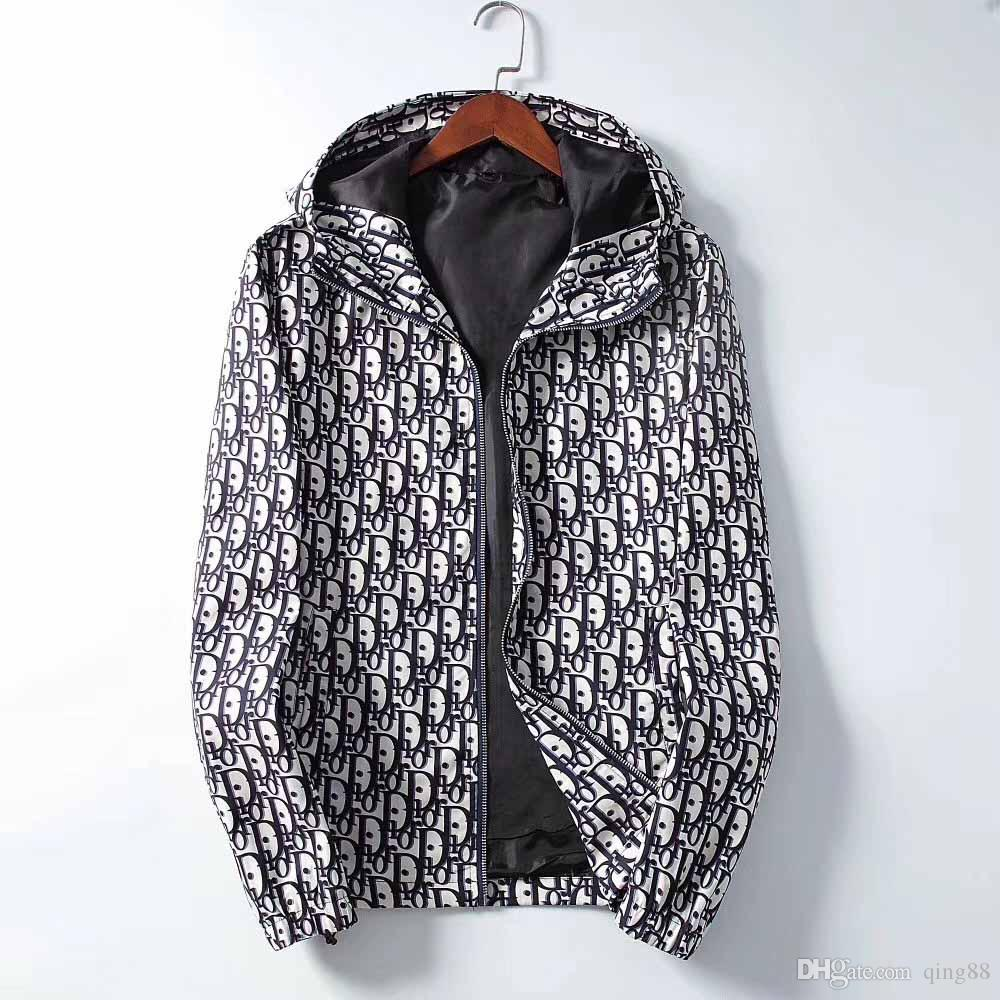 10 DHL yeni lüks tasarım uzun Medusa erkek rüzgarlık ceket erkek spor ceket manşon .AutumnWinter 19 lt