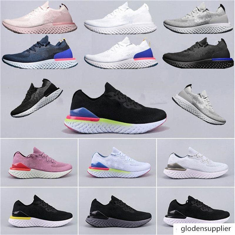 2018 Nuovo di alta qualità epica Reagire delle donne degli uomini Scarpe da corsa bianco Rosa delle donne degli uomini Sport Formatori epico Reagire Man Run Scarpe Sneakers zapatillas