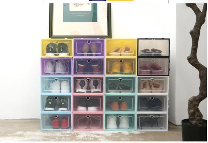 PP прозрачный пластиковый ящик для хранения обувных коробок хранения пылезащитный ящик для хранения шкаф CZG 002
