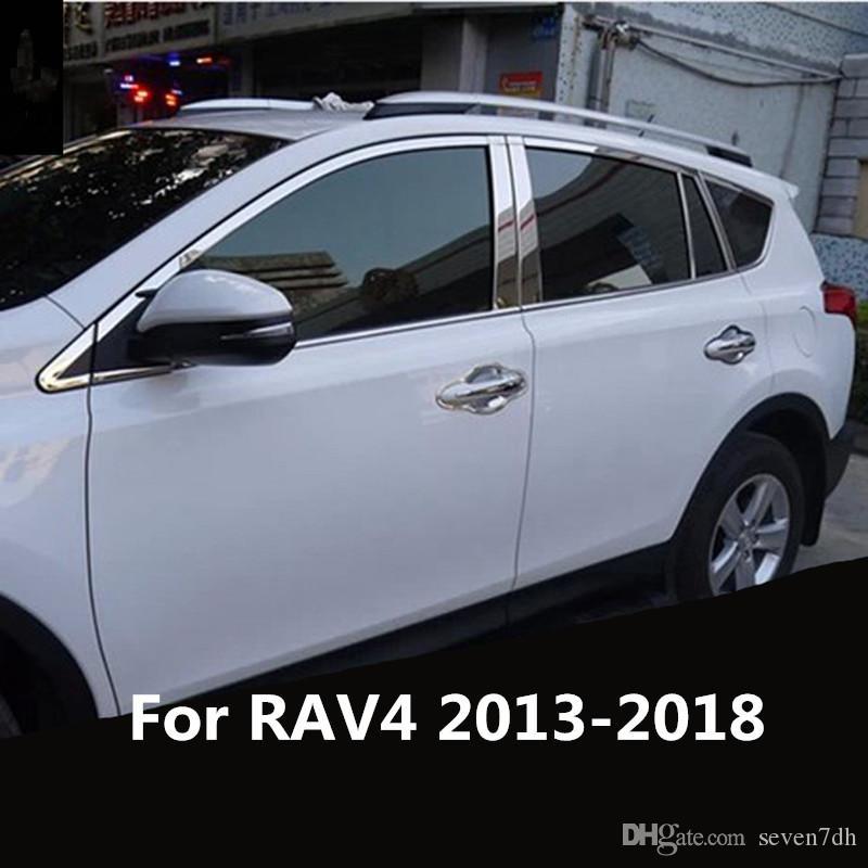 New Chrome Steering Wheel Cover Trim For TOYOTA RAV4 2013 2014 2015 2016  2017