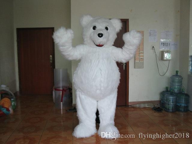 Professional custom Polar bear Mascot Costume Character white plush bear Animal Mascot Clothes Christmas Halloween Party Fancy Dress