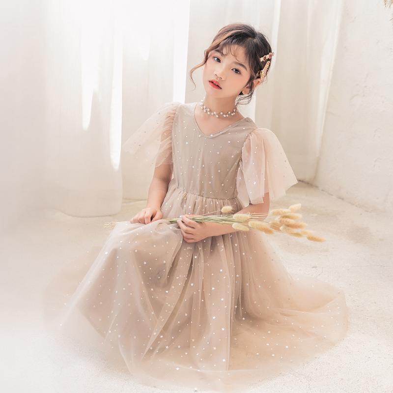 4 à 16 ans, Robe Mère et fille 2020 robe d'été pour enfants enfants Tutu filles Five Stars bébé robe de princesse, # 5910