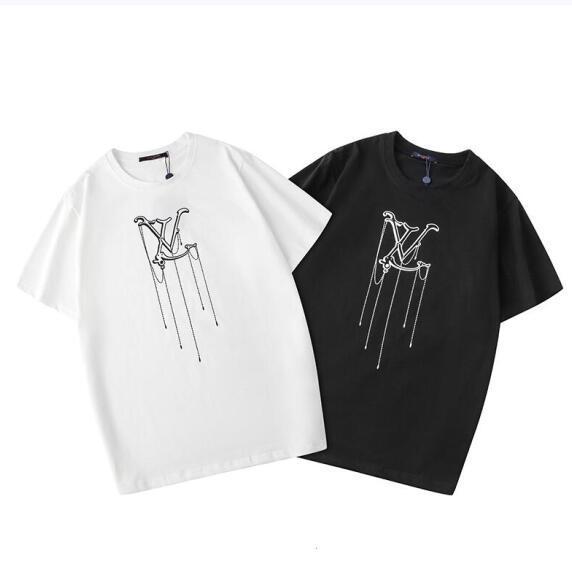 T-shirt de E Mulheres 2020 Projeto Carta clássico impressão novo de mangas curtas homens de moda de alta qualidade Preto e Branco The Original Etiquetas